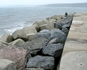 Image of defences at Scarborough